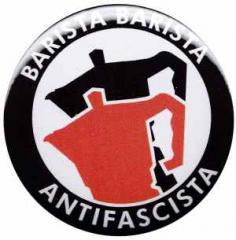 """Zum 37mm Button """"Barista Barista Antifascista (Moka)"""" für 0,97 € gehen."""