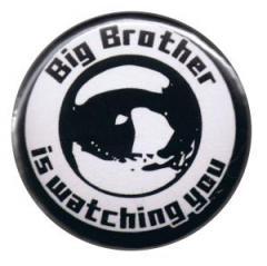 """Zum 37mm Button """"Big Brother is watching you"""" für 0,97 € gehen."""