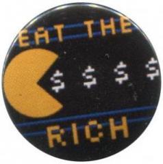 """Zum 37mm Button """"eat the rich"""" für 1,00 € gehen."""