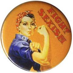 """Zum 37mm Button """"Fight sexism"""" für 1,00 € gehen."""