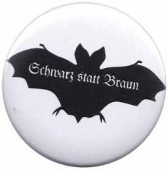 """Zum 37mm Button """"Fledermaus - schwarz statt braun"""" für 1,00 € gehen."""
