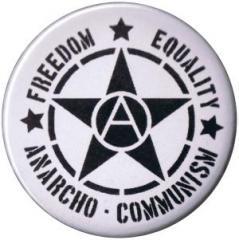 """Zum 37mm Button """"Freedom Equality Anarcho-Communism"""" für 1,00 € gehen."""