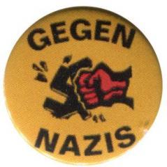 """Zum 37mm Button """"Gegen Nazis - gelb"""" für 1,00 € gehen."""