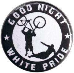 """Zum 37mm Button """"Good night white pride (Fahrrad)"""" für 1,00 € gehen."""
