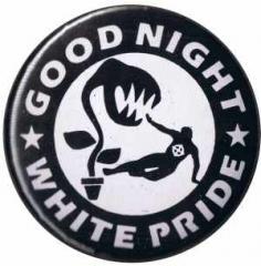 """Zum 37mm Button """"Good night white pride - Pflanze"""" für 1,00 € gehen."""