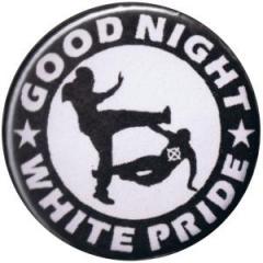 """Zum 37mm Button """"Good night white pride (schwarz/weiß)"""" für 0,97 € gehen."""