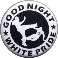 """Zum 37mm Button """"Good night white pride (weiß/schwarz)"""" für 0,97 € gehen."""