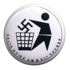 """Zum 37mm Button """"Halte Deine Umwelt sauber (weiß)"""" für 1,00 € gehen."""