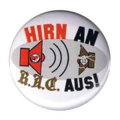 """Zum 37mm Button """"Hirn an. R.A.C. aus!"""" für 0,97 € gehen."""