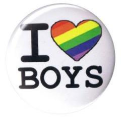 """Zum 37mm Button """"I love Boys"""" für 1,00 € gehen."""