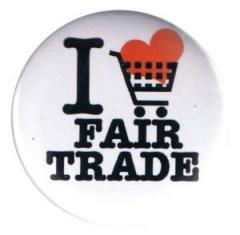 """Zum 37mm Button """"I love fairtrade"""" für 0,97 € gehen."""