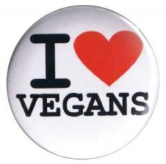"""Zum 37mm Button """"I love vegans"""" für 1,00 € gehen."""