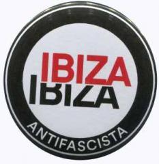 """Zum 37mm Button """"Ibiza Ibiza Antifascista (Schrift)"""" für 1,00 € gehen."""