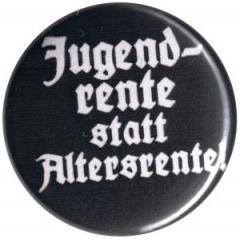 """Zum 37mm Button """"Jugendrente statt Altersrente"""" für 1,00 € gehen."""