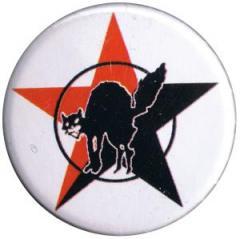 """Zum 37mm Button """"Katze mit schwarz/rotem Stern"""" für 1,00 € gehen."""