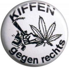 """Zum 37mm Button """"Kiffen gegen Rechts"""" für 1,00 € gehen."""