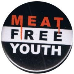 """Zum 37mm Button """"Meat Free Youth"""" für 1,00 € gehen."""