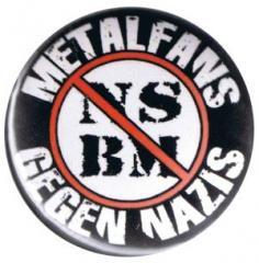 """Zum 37mm Button """"Metalfans gegen Nazis (NSBM)"""" für 1,00 € gehen."""