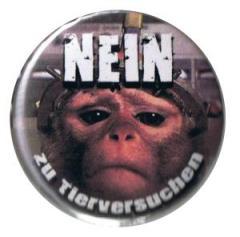 """Zum 37mm Button """"Nein zu Tierversuchen"""" für 1,00 € gehen."""