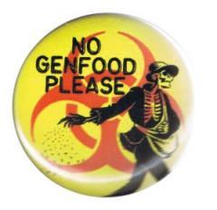 """Zum 37mm Button """"No Genfood Please"""" für 1,00 € gehen."""
