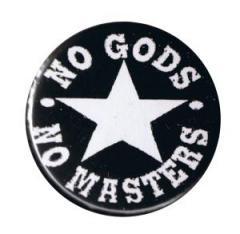 """Zum 37mm Button """"No Gods No Masters"""" für 1,00 € gehen."""