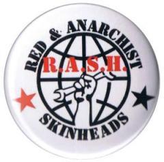 """Zum 37mm Button """"Red and Anarchist Skinheads (R.A.S.H.)"""" für 0,97 € gehen."""