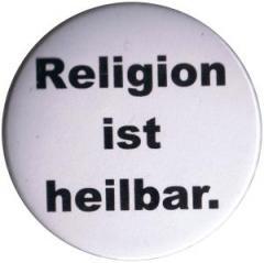"""Zum 37mm Button """"Religion ist heilbar."""" für 1,00 € gehen."""