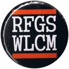 """Zum 37mm Button """"RFGS WLCM"""" für 1,00 € gehen."""