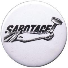 """Zum 37mm Button """"Sabotage"""" für 1,00 € gehen."""