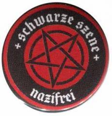 """Zum 37mm Button """"Schwarze Szene Nazifrei - Rotes Pentagramm"""" für 1,46 € gehen."""