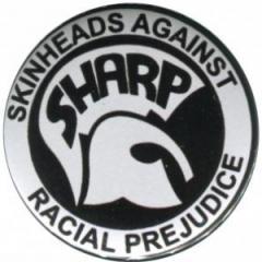 """Zum 37mm Button """"Sharp - Skinheads against Racial Prejudice"""" für 1,00 € gehen."""