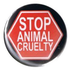 """Zum 37mm Button """"Stop Animal Cruelty"""" für 1,00 € gehen."""