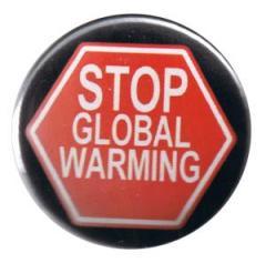 """Zum 37mm Button """"Stop Global Warming"""" für 1,00 € gehen."""