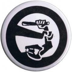 """Zum 37mm Button """"Stoppt Polizeigewalt"""" für 1,00 € gehen."""