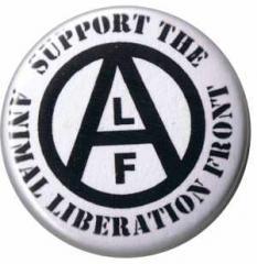 """Zum 37mm Button """"support the Animal Liberation Front"""" für 1,00 € gehen."""