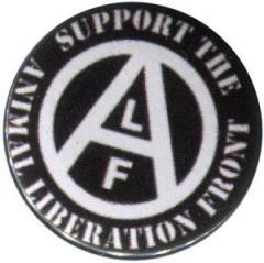 """Zum 37mm Button """"support the Animal Liberation Front (schwarz)"""" für 1,00 € gehen."""