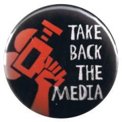 """Zum 37mm Button """"Take back the media"""" für 1,00 € gehen."""