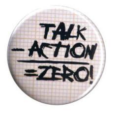 """Zum 37mm Button """"talk - action = zero"""" für 1,00 € gehen."""