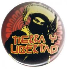 """Zum 37mm Button """"tierra y libertad"""" für 0,97 € gehen."""