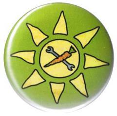 """Zum 37mm Button """"Vegane Sonne"""" für 1,00 € gehen."""