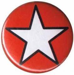 """Zum 37mm Button """"Weißer Stern (rot)"""" für 1,00 € gehen."""