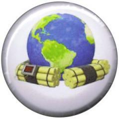 """Zum 37mm Button """"Zeitbombe Erde"""" für 1,00 € gehen."""