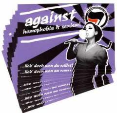 """Zum Aufkleber-Paket """"Against Homophobia And Sexism"""" für 1,60 € gehen."""