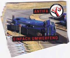 """Zum Aufkleber-Paket """"Antifa - einfach umwerfend"""" für 1,66 € gehen."""