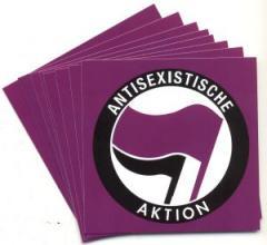 """Zum Aufkleber-Paket """"Antisexistische Aktion"""" für 1,80 € gehen."""