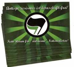 """Zum Aufkleber-Paket """"Antispeziesismus ist herrschaftsfrei!"""" für 1,80 € gehen."""
