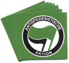 """Zum Aufkleber-Paket """"Antispeziesistische Aktion (grün/schwarz)"""" für 1,80 € gehen."""