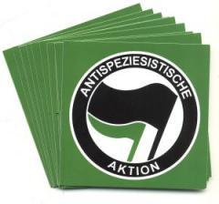 """Zum Aufkleber-Paket """"Antispeziesistische Aktion (schwarz/grün)"""" für 1,75 € gehen."""