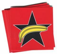 """Zum Aufkleber-Paket """"APPD - Schwarzer Stern + Banane"""" für 1,80 € gehen."""