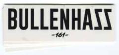 """Zum Aufkleber-Paket """"Bullenhass 161"""" für 1,80 € gehen."""